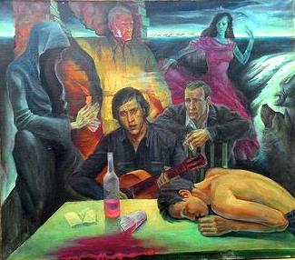 Высоцкий (картина работы А.В. Российцева)